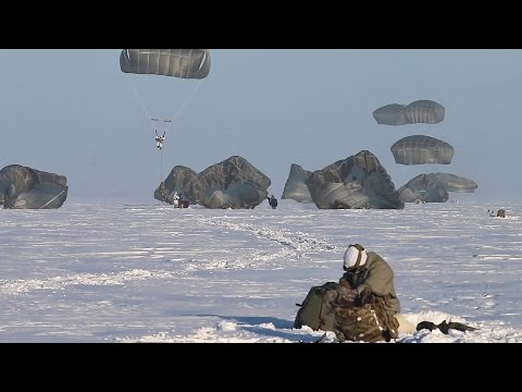 Paratroopers Parachute Into The Arctic
