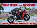 CBR 650F CB 650F 2018 Teste Review Apresentação completa