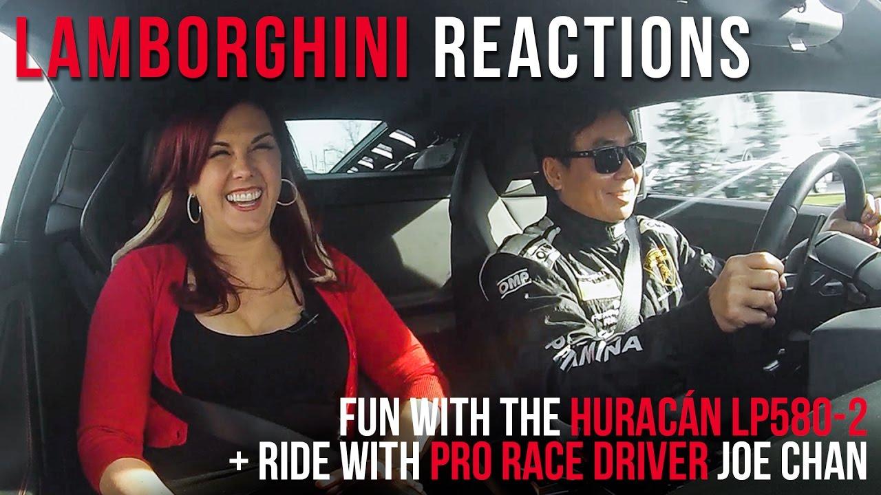 GIRLS REACTIONS to Lamborghini Huracán LP580-2 + PRO DRIVER