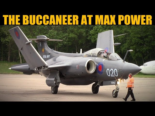 Buccaneer Low Level Nuclear Bomber Max Power Run | Bruntingthorpe 2019