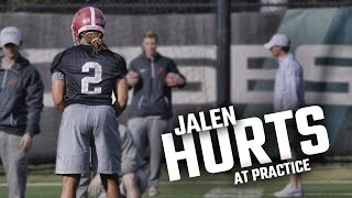 See how Jalen Hurts looked at practice as Alabama prepares for Clemson