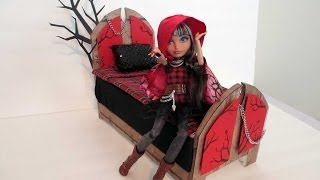 How To Make A Cerise Hood Doll Bed Tutorial/ Ever After High