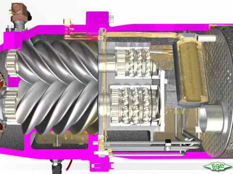 Air System Schematic Bitzer Compact Screw Compressor Sequenz 7 7 Youtube