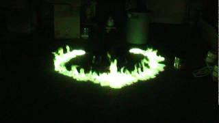 Green Fire WIth Methanol And Boric Acid