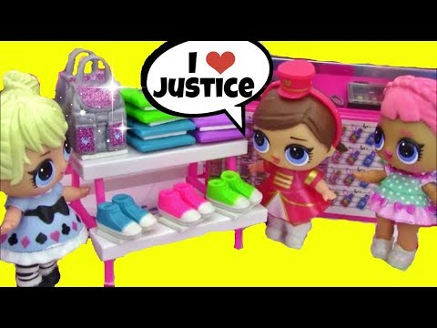 LOL Surprise Dolls Go Shopping At Justice ♥ UNICORN THEME ♥ NEW Series 2 Friend