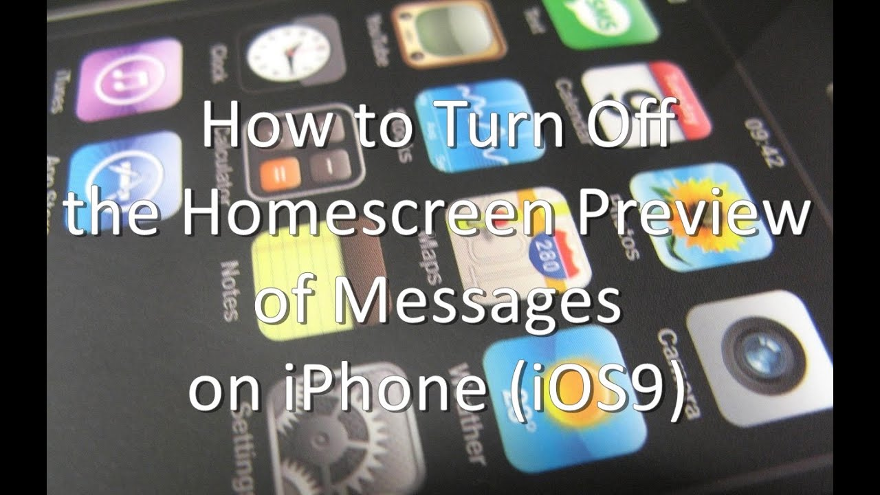 how to turn off message preview on iphone how to turn the homescreen preview of messages on 21147