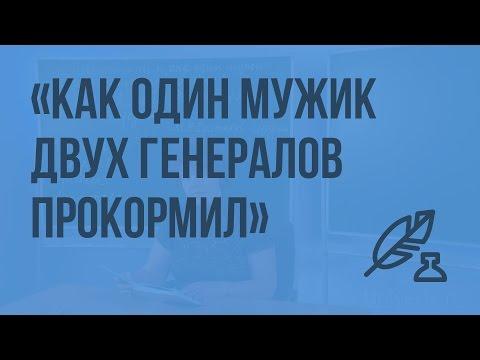 М.Е. Салтыков-Щедрин. «Повесть о том, как один мужик двух генералов прокормил»