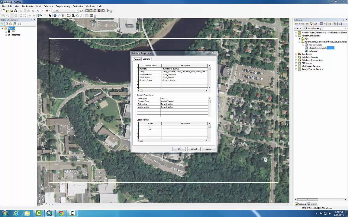 Tutorial on Creating a Geodatabase with Domains on ArcGIS 10 2 2