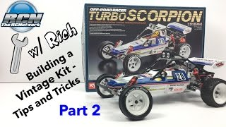 Building a Vintage RC - Wrenching w/ Rich - Kyosho Turbo Scorpion Part 2