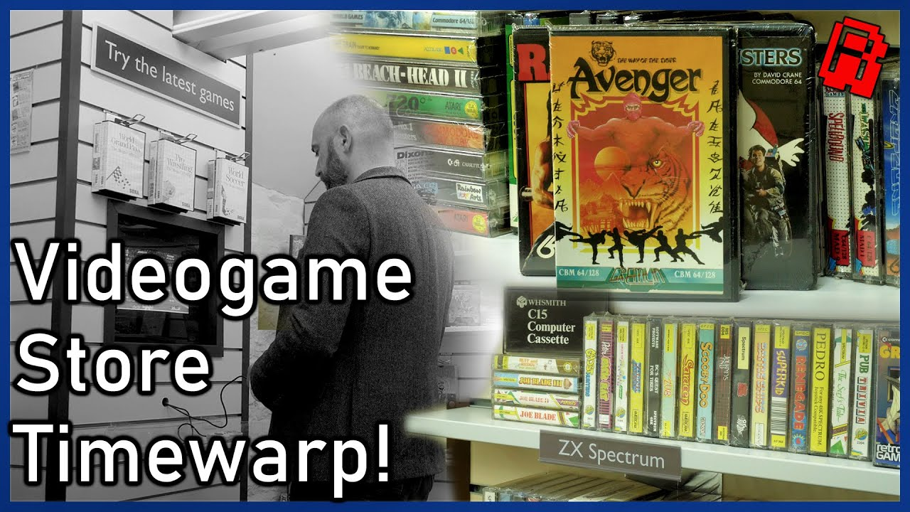 Video Game Store Timewarp! | Recreating a retro game store