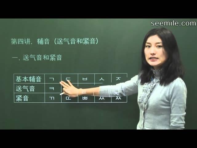 (韩国语基础) 第四讲 紧音与浊音 자음(격음과 경음)