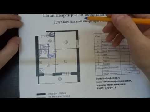 Варианты перепланировки в двухкомнатной квартире в доме серии И-209А, ч.2