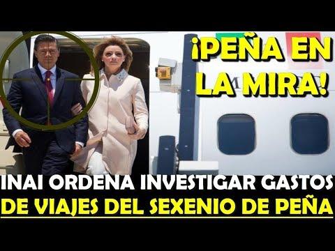 ¡ INAI INVESTIGA A PEÑA ! PIDE INFORMES DE SUS GASTOS DE VIAJES EN SU SEXENIO - ESTADISTICA POLITICA