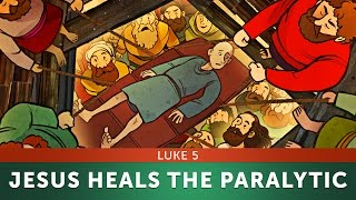 Gambar cover Jesus Heals the Paralytic-Luke 5 | Sunday School Lesson & Bible Story for Kids | Sharefaithkids.com