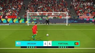 URUGUAY vs PORTUGAL | Full Match & Amazing Goals | Penalty Shootout | PES 2018 Gameplay PC