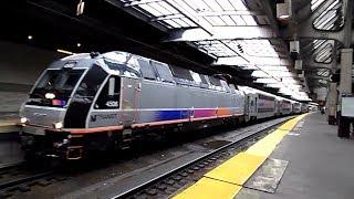 new jersey transit hd alp 45dp 4506 making mode change with rvl train newark penn