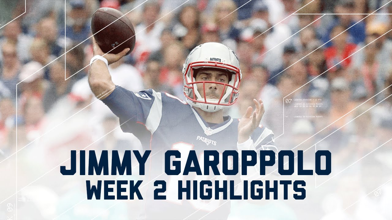 Every Jimmy Garoppolo Throw   Dolphins vs Patriots   NFL ... Jimmy Garoppolo Patriots Highlights