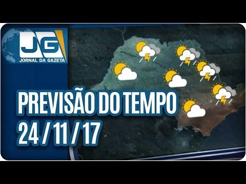 Previsão do Tempo - 24/11/2017