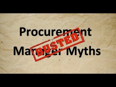 3 Purchasing Manager Myths - Busted!