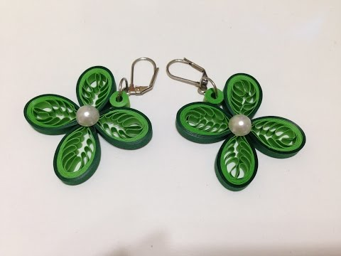 Download video: Quilling Earrings Leaves - Using a Hair Comb