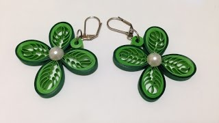 Quilling Earrings Leaves - Using a Hair Comb