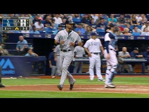 SEA@TB: Lee doubles into right to score two runs