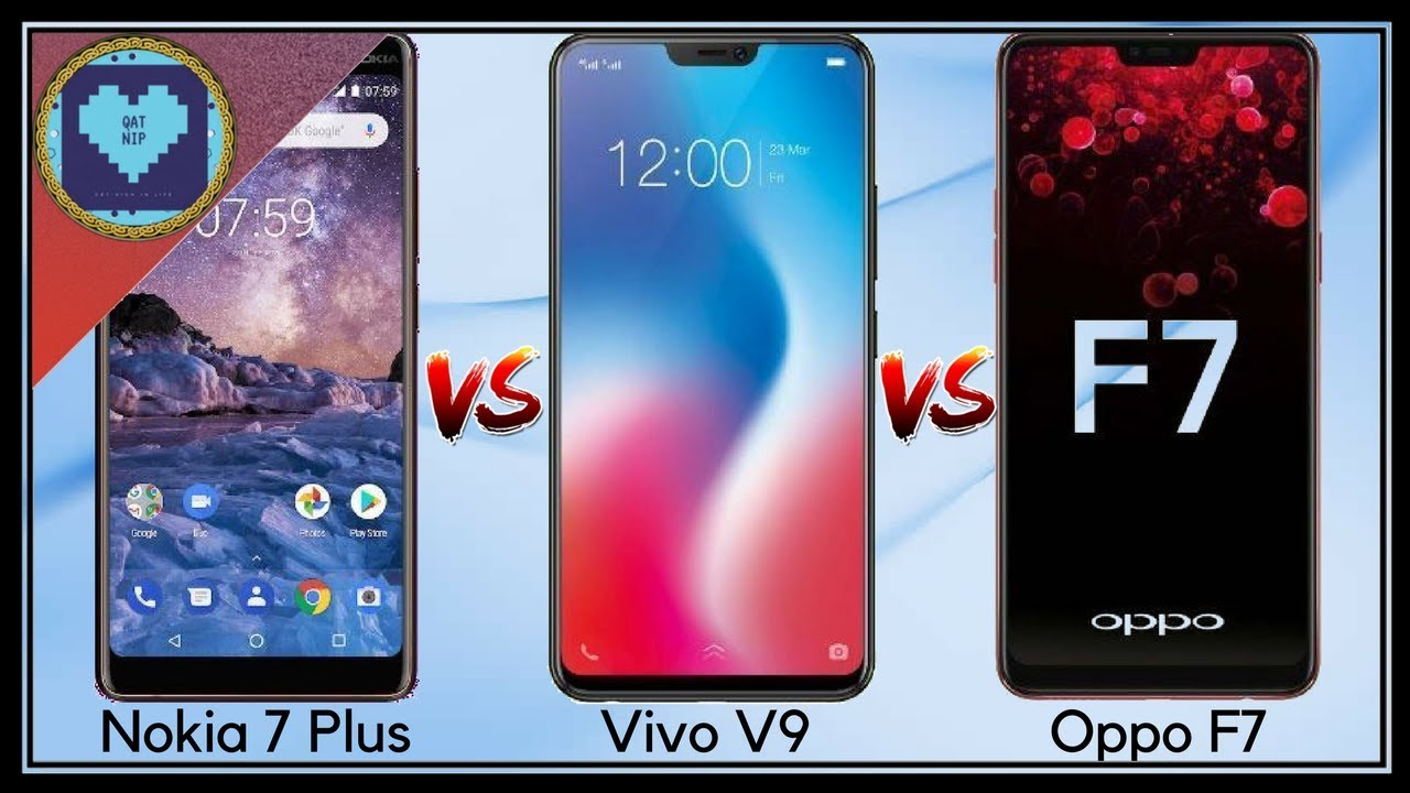 Nokia 7 Plus Vs Vivo V9 Vs Oppo F9 The Tough Competition Youtube