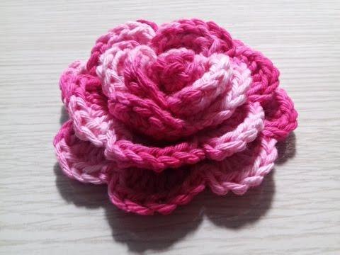Flor de Crochê enrolada Fácil