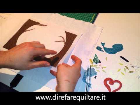 I tutorial di Dire Fare Quiltare - Appliquè con Silicone Release Paper