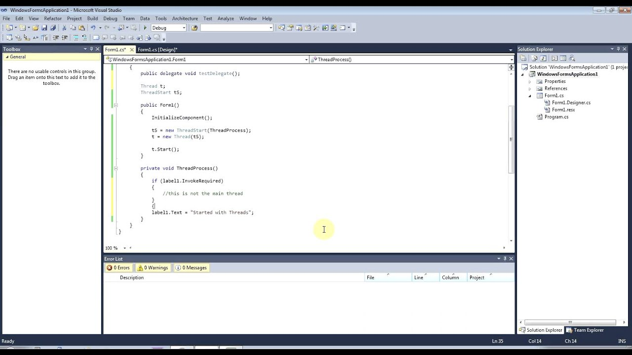 NET 2 0/Winforms Multithreading with GUI Elements