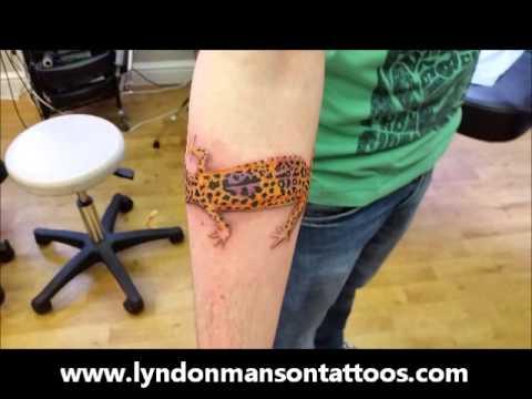 lyndon manson leopard gecko tattoo awesome 3d tattoo
