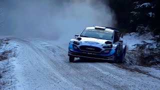 WRC Rally Sweden 2020 - Big flat out on snow and gravel [HD]