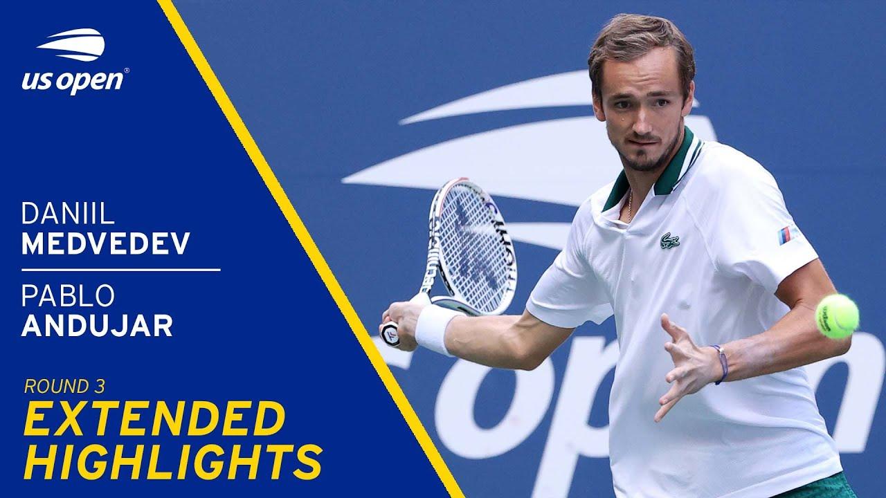 Daniil Medvedev vs Pablo Andújar Extended Highlights | 2021 US Open Round 3