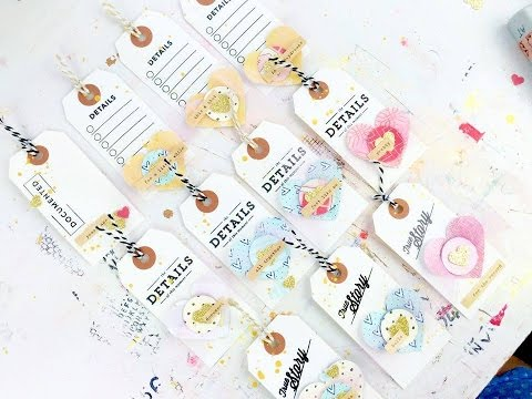How To ~ Make DIY Scrapbooking Tags Using Scraps