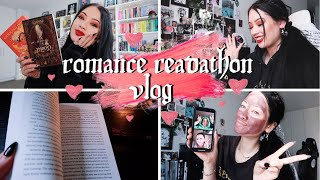 reading two 5 star LGBT+ romance reads | ROMANCE READATHON VLOG