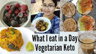 What I eat in a day Vegetarian Keto Low carb Diet | Cauliflower Upma