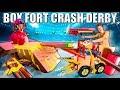 BOX FORT CRASH DERBY CARS
