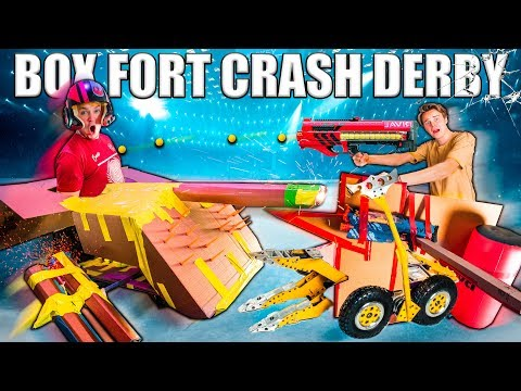 BOX FORT CRASH DERBY CARS