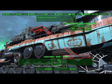 Fallout 4 New Mods Barge City Settlement and The Roadtrain Depot PS4