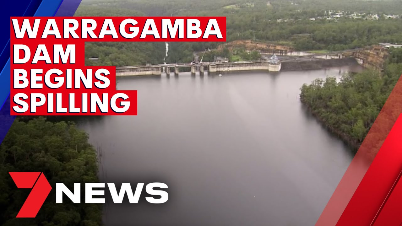 Warragamba Dam has begun spilling says the NSW State Emergency Service | 7NEWS