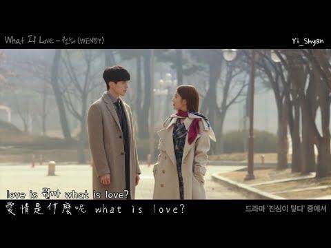 [韓繁中字/MV] WENDY(웬디) – What If Love – 觸及真心 진심이 닿다 OST Part 3