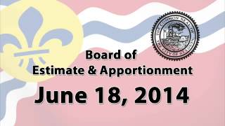 Estimate and Apportionment   June 18   2014