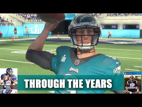NICK FOLES THROUGH THE YEARS - NCAA FOOTBALL 08 - MADDEN 18