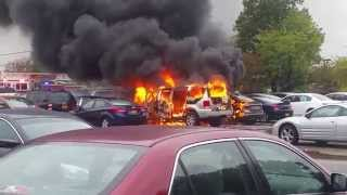 Nassau Community College Car Fire 10/22/14