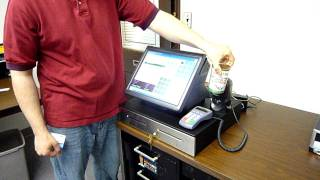 """A demonstration of cash sale and debit card our own corner store pos software on the partner tech pt-6215 all-in-one touch terminal. """"all-in-on"""" p..."""