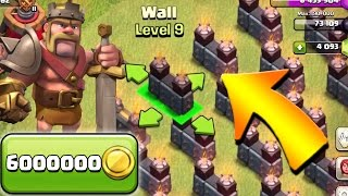 Clash of Clans: TH9 FARM TO MAX!!  Let's Farm Walls!  Queenwalk Army
