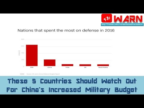 These 5 Countries Should Watch Out For China's Increased Military Budget