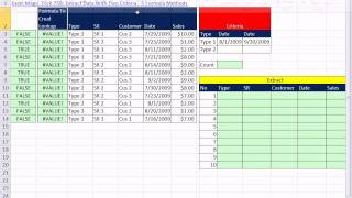 Excel Magic Trick 758.5: Extract Data With Four Criteria VLOOKUP & INDEX SUM, AND, OR Functions