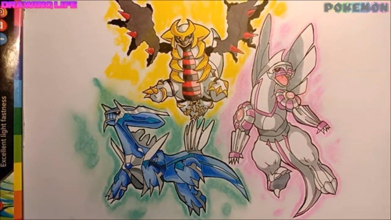 Nghệ thuật vẽ bộ 3 sáng tạo pokemon huyền thoại Không tẩy xóa