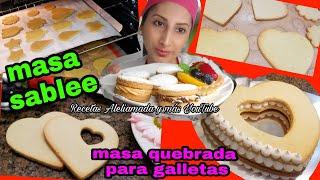 MASA SABLEE | MASA QUEBRADA PARA GALLETAS, TARTAS Y MAS.